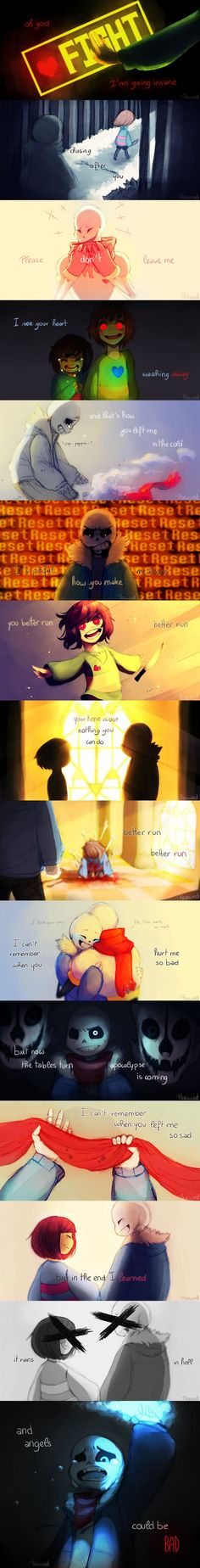 "[UNDERTALE MV] Angels by Peewed on DeviantArt>>>The song used is ""Angels can be bad"" by vicetone Undertale Memes, Undertale Fanart, Undertale Comic, Undertale Theories, Undertale Drawings, Chara, Que Horror, Boys Anime, Toby Fox"
