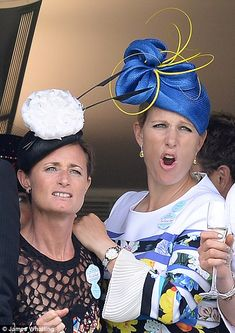 dailymail:  Royal Ascot 2016, Day 1, June 14, 2016-Zara Tindall and close friend Dolly Maude