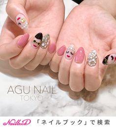 きゃ、きゃわゆー🙈✨#アジョリー ネイル 💕みんな顔違うよ😂◆ジェル2Hやり放題コース担当・yui#agunail#アグネイル#nailstagram #naildesign #nail #美爪...|ネイルデザインを探すならネイル数No.1のネイルブック Diy Nails, Manicure, Asian Nails, Kawaii Nails, Green Nails, Sally Hansen, Nail Trends, Love Nails, Nail Arts