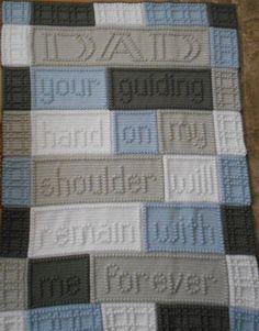 (4) Name: 'Crocheting : DAD crocheted blanket