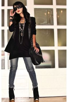 rocker chic.. this is sooo my style!