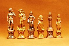 "Florence Metal Chessmen, bronze, $109.95 3.25"" King, pieces of ""art"" from Italy! #metalchessmen"