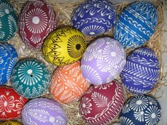 Easter Art, Easter Eggs, Polish Recipes, Stone Art, Diy And Crafts, Hand Painted, Auntie, Stones, Patterns