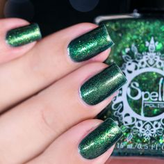 Spell Polish is a boutique/indie nail lacquer with a luxurious formula of glitters, micas and pigments- MINUS the toxins! Spell yourself well! Wood Nails, Out Of The Woods, Sakura, Nail Art, Spelling, Swatch, Nail Polish, Prince, Beautiful