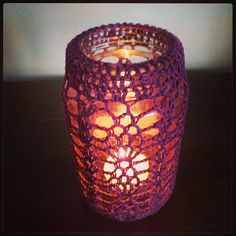 Crochet around the jar