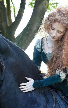 Jessica Chastain Wows As Merida In Disney's 'Dream Portrait' Campaign
