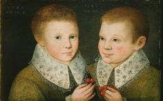 """Portrait of Two Brothers"", Marcus Gheeraerts the younger, 1586; Birmingham Museums and Art Gallery 1931P734"