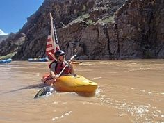 Veteran becomes first blind kayaker to paddle length of Grand Canyon