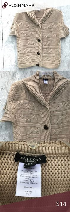 "Talbots Cotton Cardigan Large 100% cotton, size L, pre worn and in nice shape. Shoulder to hem: 24"", pit to pit: 23"". SW4  Make the most of your shipping dollar and peruse my closet of 1000+ items: jackets, shoes, boots, sweaters, tops and accesories. Bundle and save $$$!!! Talbots Sweaters Cardigans"
