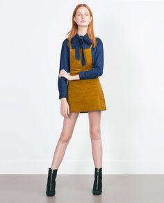c3ec4cba8d Zara Check Pinafore Dress, Corduroy Pinafore Dress, Zara Dresses, Fashion  Dresses, Dress
