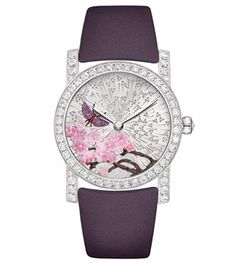 Chaumet 'Attrape-moi... si tu m'aimes' Montre Precieuse rhodium-plated watch in white gold, set with 58 brilliant-cut diamonds (2.52ct) and one rose-cut diamond (0.10ct).