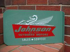 Vintage Style Johnson Seahorse Outboard Motor by GrayRabbitPress, $30.00