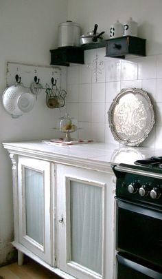 DIY freestanding vintage kitchen.