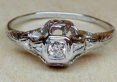 Vintage Antique .10ct Old European Cut Diamond by DiamondAddiction, $350.00