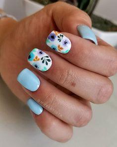 Super Cute Nails, Pretty Nails, Manicure, Cute Nail Art, Nail Inspo, Pedi, How To Do Nails, Summer Nails, Hair And Nails