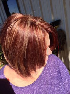 red hair color with caramel highlights | Red Brown Hair with Caramel Highlights