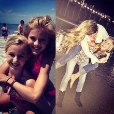 Chloe & Paige then and now