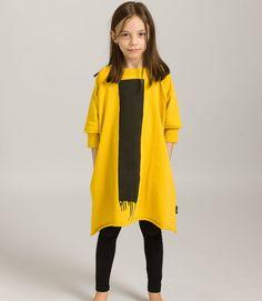 Black bar dress Duster Coat, Kids Fashion, Bar, Yellow, Jackets, Dresses, Down Jackets, Vestidos, Dress