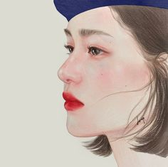 Soft and Sensual Colors That Fill the Page: Doop's Colored Portraits How To Draw Ears, You Draw, Drawing Utensils, Facial Proportions, Elements Of Color, Color Theory, Colored Pencils, Art Girl, Color Mixing