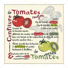 "Lilipoints - Gourmandise ""Confiture de tomates"" 213 x 206 points G003 Kit, Cross Stitching, Bullet Journal, Diy Crafts, Chutneys, Crochet, Google, Cross Stitch, Search"