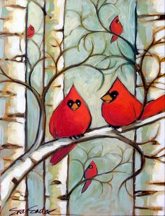 Original acrylic painting by Suzy Sadak titled Winter Cardinals III, 12 x 16 x 1 on wood panel, finished in a gloss varnish, titled, signed, and dated on the back and wired for hanging. This painting ships for free to the lower 48 contiguous Untied States. For all other destinations please message me for a shipping quote. Thanks for looking