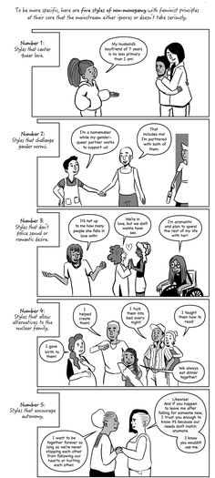 5 Radical Ways People Do Non-Monogamy That You Need to Know About (Follow the link for the whole strip, from Everyday Feminism)