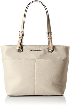 b92181cfd Michael Kors Bedford Top Zip Leather Tote in Dusty Blue M.