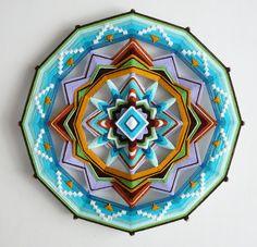 Yarn mandala / Ojo de Dios by JaysMandalas,$125.00