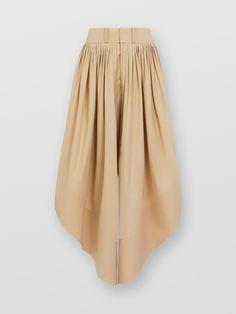 Flou Pants For Women In Cotton Poplin | Chloé US Trousers Women, Pants For Women, Cotton Lights, Printed Blouse, Poplin, Wide Leg, Skirts, Model, How To Wear