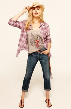 Gibson Shirt, Free People Tank & Citizens of Humanity Jeans   Nordstrom