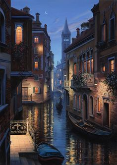 Venice - Digital painting by Evgeny Lushpin
