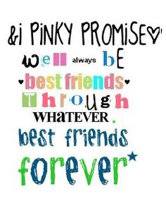 Does your pinky promise Lucy?