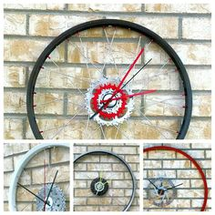 Recycled Bicycle Wheel Wall Clock Hand Crafted by Class5Recyclery