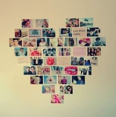 I can never get my pictures to stay on my wall. Or even be straight. ugh I wan tot do this so bad though