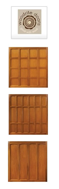 Woodrite timber doors online - view and buy the latest timber doors available from The Garage Door King.