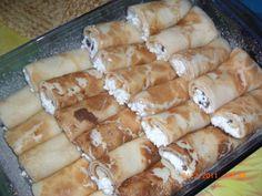 Zapekané palacinky s tvarohom (fotorecept) - obrázok 3 Ale, Pancakes, Cheese, Food, Basket, Meal, Crepes, Ale Beer, Essen