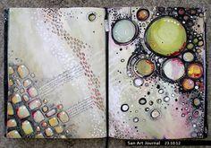 Art Journal 23 by ~San-T http://san-t.deviantart.com/ #mixed_media #abstract #art_journaling