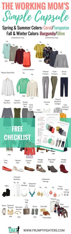 Simple, easy, & gorgeous #capsule wardrobe plan for working MOMS!