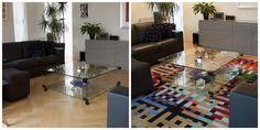 Voor het kleed, en na het kleed. Een #vloerkleed maakt je huis #gezellig! #interieur #rugs http://www.vloerkledenwinkel.nl/category/Modern-vloerkleed/product/Karpet-Brink-en-Campman-Kodari-Vibes-00