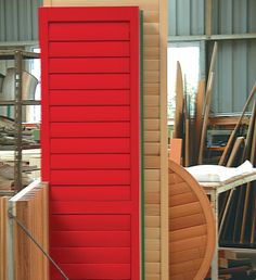 What's your preference, natural cedar or bright paint that makes a statement? www.openshutters.com.au
