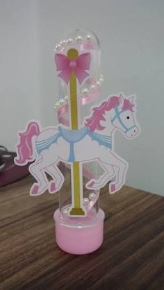 Resultado de imagen para scrap festa carrossel encantado Diy Party Decorations, Diy Decoration, Alice, Birthday Candles, Unicorn, Centerpieces, Baby Shower, Cake, Carousel Party