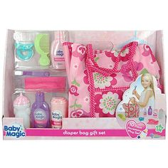 Baby Magic Doll Diaper Bag Gift Set - 10 Piece Accessory Play Set for Like the Baby Magic Doll Diaper Bag Gift Set - 10 Piece Accessory Play Set? Baby Doll Nursery, Baby Girl Toys, Toys For Girls, Baby Alive Doll Clothes, Baby Alive Dolls, Baby Doll Diaper Bag, Disney Princess Babies, Baby Alive Food, Reborn Toddler Dolls