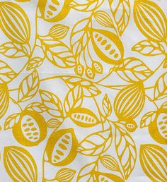 Wild Pods fabric by Fiona Howard. Pretty color/pattern for kitchen.