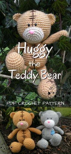 Adorable stuffed Teddy Bear crochet pattern to make! I love this cute amigurumi stuffed toy! Check out all of craft evangelist's teddy bear pattern finds!