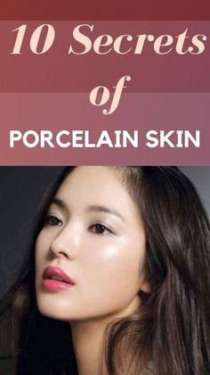How to get porcelain skin at Home: 10 Easy Steps Skin Secrets, Skin Tips, Skin Care Tips, Beauty Care, Beauty Skin, Beauty Hacks, Beauty Tips For Face, Natural Beauty Tips, Face Tips