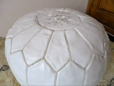 MOROCCAN POUF hand stitched. WANT!!!