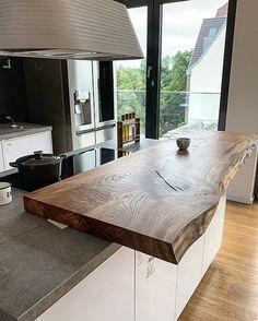 Rustic Kitchen Design, Kitchen Room Design, Luxury Kitchen Design, Home Room Design, Home Decor Kitchen, Interior Design Living Room, Rustic Home Interiors, Cuisines Design, Küchen Design
