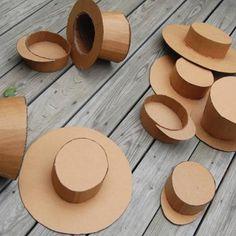 Cardboard Party Hats {diy}