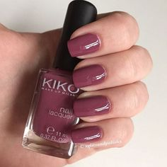 ❤ Kiko nailpolish in '317 Dark Antique Pink'. A nice everyday mauve. ❤️…