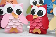These owls would be cute birthday cards!